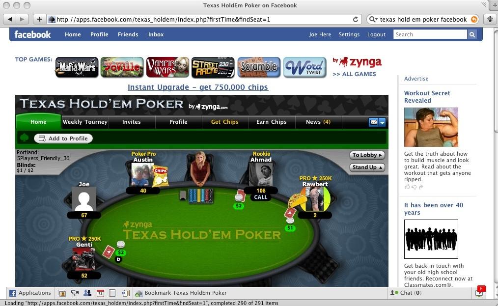 Poker på Facebook
